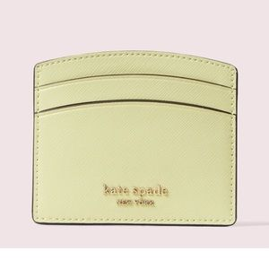 NWT Kate spade light yellow/green cardholder